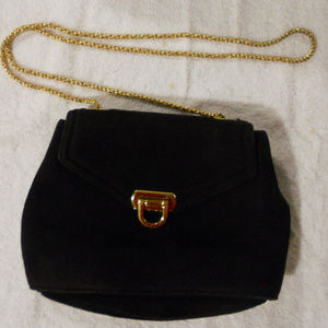 Frenchy of California Suede Chain Purse Vintage